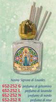 ネコポス不可 イタリア FB 652-252 祈りのための香り 小瓶 ルルドの聖母 8m ガラス小瓶
