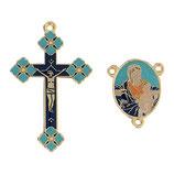 イタリア RO019155 ロザリオセンターメダイ&クロスセット 聖母子