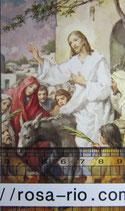 ご絵 クラシカル エルサレム入城 12×7㎝ 紙裏白