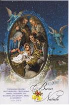 イタリア製 クリスマスカード 定型 聖家族ブルー C1625 180-4