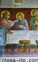 御絵 クラシカル 聖体拝領 イエスから晩餐に