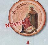 FB NATALE イタリア製 オーナメント 聖家族 1402-4 8×9センチ