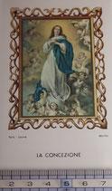 ご絵 絵画 LA CONCEZIONE B-9 11,5×6.7センチ 紙裏白