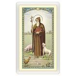 パウチカード イタリア2407Santino Sant'Antonio Abate Orazione ITA 10x5