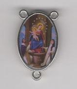 ロザリオセンターメダイ カトリックセンター08063 両面 ポンペイの聖母 枠内20ミリ 縁まで23ミリ