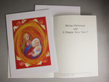 聖母の騎士社 クリスマスカード 聖誕赤 みまきかずこ絵
