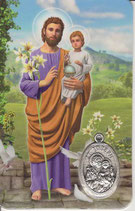 イタリア メダイカード 聖ヨセフ 7518