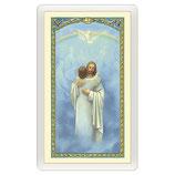 パウチカード イタリア2435 801072Santino Gesù che abbraccia un'Anima Io Credo, Signore ITA 10x5