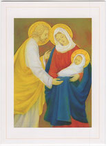 聖母の騎士社 クリスマスカード 聖家族 みまきかずこ絵