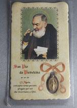 サンジョバンニロトンド 聖ピオ神父不思議のメダイカード 10.5×6.2