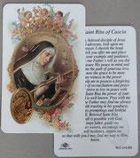 イタリア プラ箔押しカード RCC 13  8.3×5.5センチ 裏面英語祈り