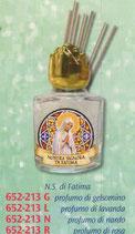 ネコポス不可 イタリア FB 652-213 祈りのための香り 小瓶 ファティマの聖母 8m ガラス小瓶