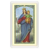 パウチカード イタリア2454Santino Maria Ausiliatrice Preghiera a Maria Ausiliatrice ITA 10x5
