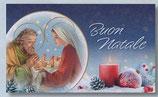 FB NATALE イタリア 新作クリスマスご絵カード&封筒セット 8×13.5センチ裏白 封筒 9×14センチ 定型 438-1