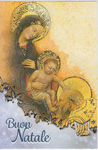 イタリア製 クリスマスカード 定型 聖家族 C1620 180-6