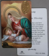イタリア プラ箔押しカード RCC 131  8.3×5.5センチ 裏面英語祈り
