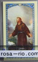 イタリア パウチご絵 アッシジの聖フランシスコB 11×7センチ