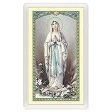イタリアパウチ 2398 Santino Madonna di Lourdes Novena alla Vergine di Lourdes ITA 10x5