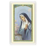 イタリアパウチカード 2421 悲しみの聖母 Santino Madonna Addolorata Preghiera ITA 10x5