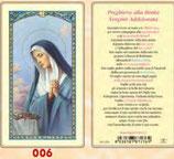 イタリア ご絵 FB SERIE 801-006 悲しみの聖母 6.4×11.4センチ パウチカード OPP袋入り