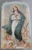 イタリア ご絵 CLARA 03 12.5×7.5センチ 大判飾り縁箔押し 紙裏白