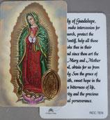 イタリア プラ箔押しカード RCC 7  8.3×5.5センチ 裏面英語祈り