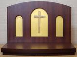 日本製 キリスト教 上置き祭壇 AL-1型 (C)十字架白木ボディなし