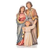 イタリア キリスト降誕セット、聖家族、塗られた木、ヴァルガルデーナ PR004345 15センチ