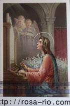 ご絵 手判 聖セシリア C-40 14×9センチ 紙裏白