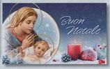 FB NATALE イタリア 新作クリスマスご絵カード&封筒セット 8×13.5センチ裏白 封筒 9×14センチ 定型 438-2