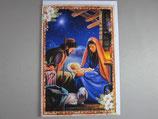 イタリア製 クリスマスカード 定型 聖家族 C1610