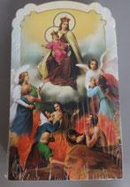 イタリア ご絵 CLARA 9 12.5×7.5センチ 大判飾り縁箔押し 紙裏白