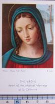 ご絵 聖カタリーナ 10.5×6 紙裏白