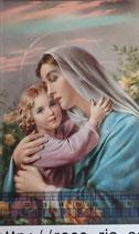 ご絵 手判 聖母子B C-46 14×9センチ 紙裏白