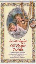 イタリア FB 950-18 カード付き 祝福メダイペンダント 守護の天使 カード12、6×7,6センチ