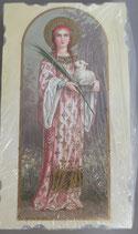 イタリア ご絵 Eucaristina 聖アガタ St.Agata 002 10.7×6センチ 飾り縁箔押し 紙裏白