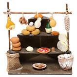 サラミと乳製品スタンド、10cmナポリのキリスト降誕