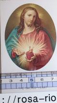 ご絵 絵画 THE SACRED HEART A-12 10.5×6センチ 紙裏白
