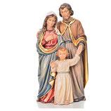 キリスト降誕セット、聖家族、塗られた木、ヴァルガルデーナ