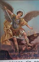 ご絵 手判 大天使聖ミカエル C-43 14×9センチ 紙裏白
