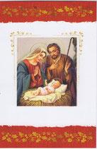イタリア製 クリスマスカード 定型 聖家族 220-6