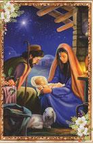 イタリア製 クリスマスカード 定型 聖家族 220-23