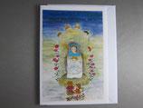 東京カルメル会クリスマスカード定型 バラの聖母子