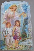 イタリア ご絵 CLARA 10 12.5×7.5センチ 大判飾り縁箔押し 紙裏白