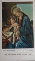 ご絵 絵画 THE MADONNA WITH DIVINE CHILD A-20 10.5×6センチ 紙裏白