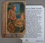 イタリア プラ箔押しカード GENOA聖書型 12 聖父子 8.5×5.5センチ 裏面英語祈り