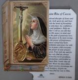 イタリア プラ箔押しカード GENOA聖書型 13 聖リタ 8.5×5.5センチ 裏面英語祈り