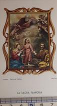 ご絵 絵画 LA SACRA FAMIGLIA B-2 11,5×6.7センチ 紙裏白