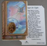 イタリア プラ箔押しカード GENOA聖書型 21 聖霊 8.5×5.5センチ 裏面英語祈り