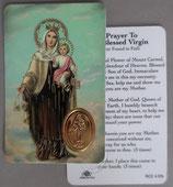 イタリア プラ箔押しカード RCC 4 カルメル  8.3×5.5センチ 裏面英語祈り